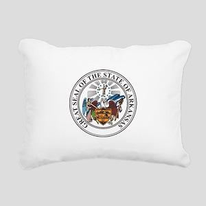 Arkansas State Seal Rectangular Canvas Pillow