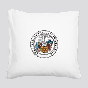 Arkansas State Seal Square Canvas Pillow