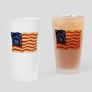 Retro 1776 American Flag Pint Glass