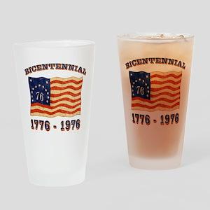 Retro 1776-1976 Flag Pint Glass