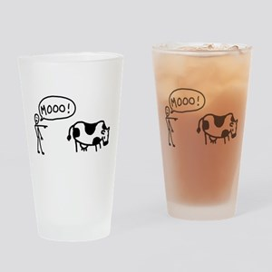 Moo At Cow Pint Glass