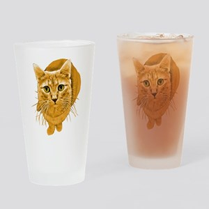 Orange Cat Pint Glass