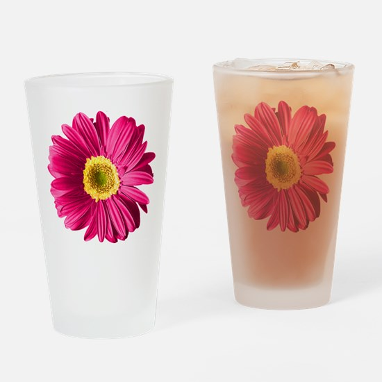 Pop Art Fuchsia Daisy Pint Glass