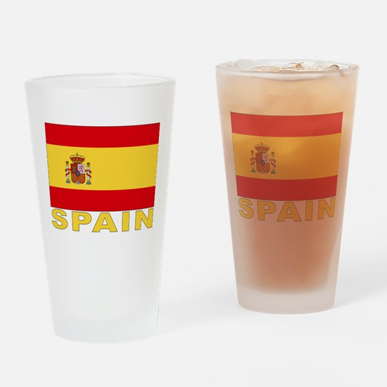 Spain Flag Pint Glass