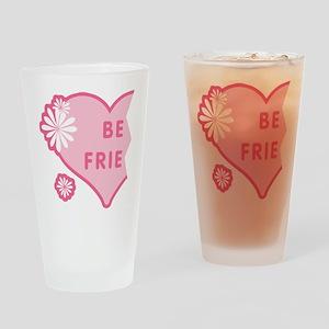 Pink Best Friends Heart Left Pint Glass