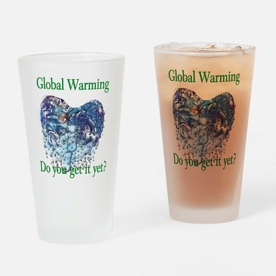 Global Warming Pint Glass
