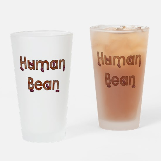 Human Bean Pint Glass