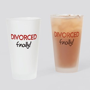 Divorced Finally Pint Glass