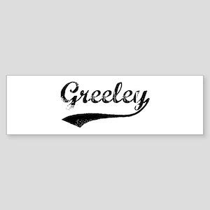 Vintage Greeley Bumper Sticker