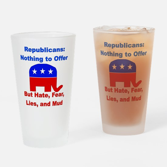 Anti-Republican Pint Glass