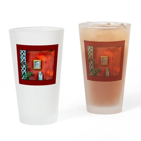 Skull On Red Shed Pint Glass