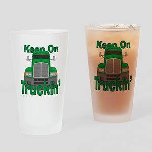 Keep On Truckin Drinking Glass