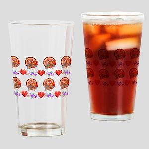 Festive Thanksgiving Drinking Glass