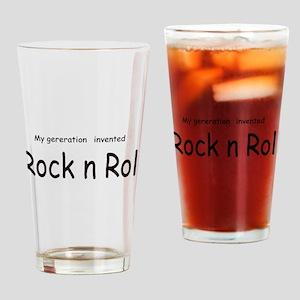 Rock n Roll Pint Glass