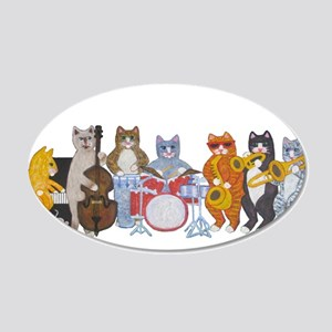 Salsa Cats 22x14 Oval Wall Peel