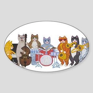 Salsa Cats Sticker (Oval)