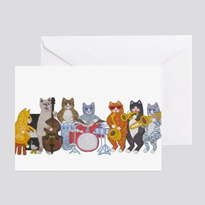 Salsa Cats Greeting Card