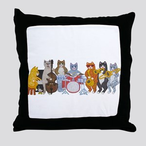 Salsa Cats Throw Pillow
