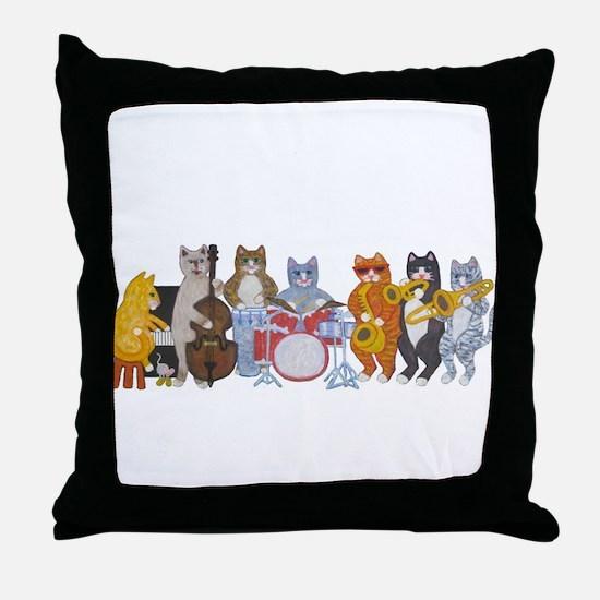 Salsa Cats Throw Pillow