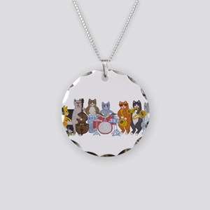Salsa Cats Necklace Circle Charm