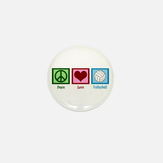 Peace Love Volleyball Mini Button