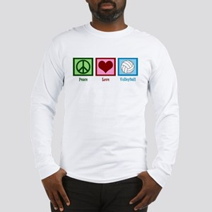 Peace Love Volleyball Long Sleeve T-Shirt