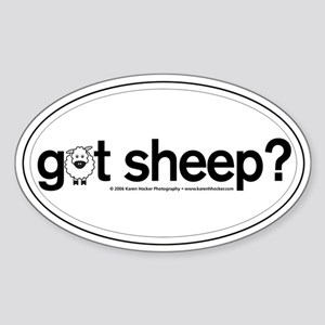 got Sheep? Oval Sticker