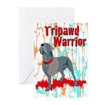 Tripawd Warrior Bellona Greeting Cards (Pk of 10)