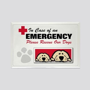 Please Rescue Dogs Rectangle Magnet