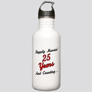 25th Anniversary Gift Married Stainless Water Bott