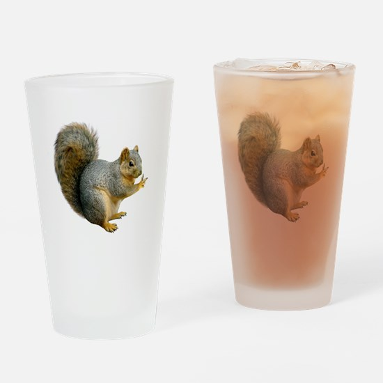 Peace Squirrel Pint Glass