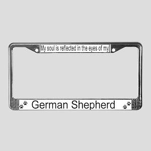 """""""German Shepherd"""" License Plate Frame"""