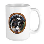 Mac's Tri Border Collie Large Mug