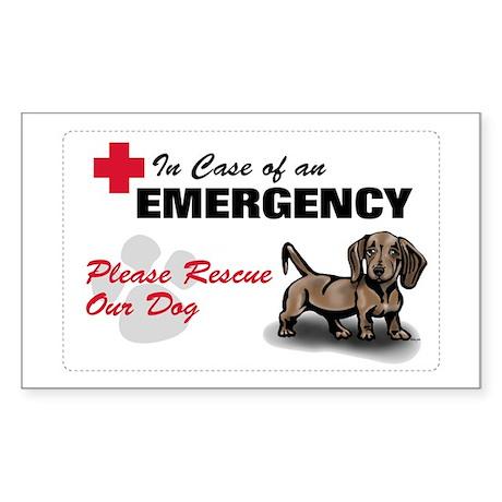 Save My Dachshund Rectangle Sticker