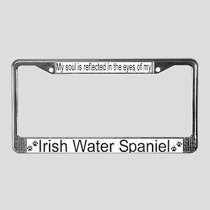 """Irish Water Spaniel"" License Plate Frame"