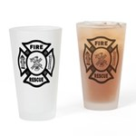Fire Rescue Drinking Glass