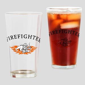 Firefighter Bull Dog Tough Drinking Glass