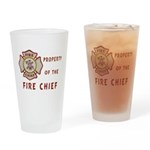 Fire Chief Property Drinking Glass