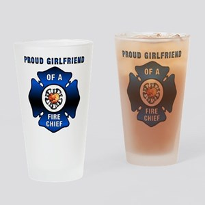 Fire Chief Proud Girlfriend Drinking Glass
