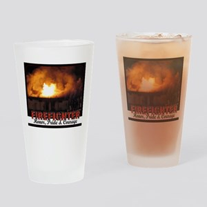 Firefighter Honor, Pride, Courage Drinking Glass