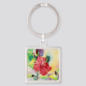 Red Hibiscus Keychains