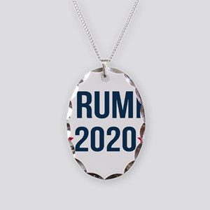 Trump 2020 Necklace Oval Charm