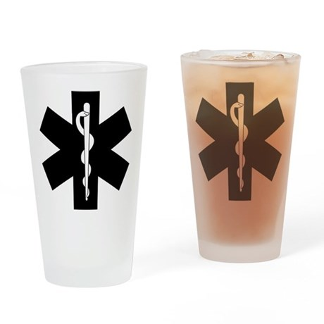 EMS Star of Life Drinking Glass