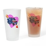 EMS Care Heart Drinking Glass