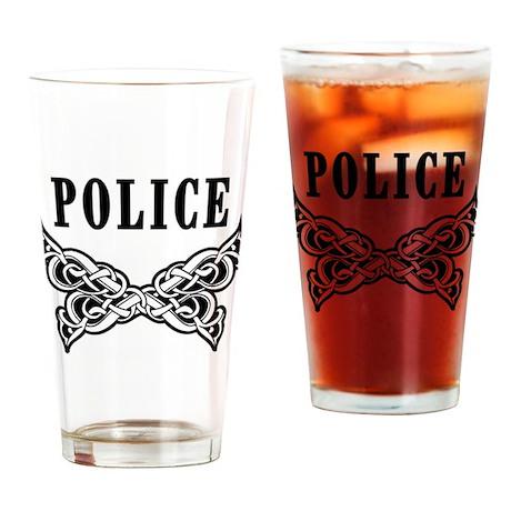 Police Tattoo Drinking Glass
