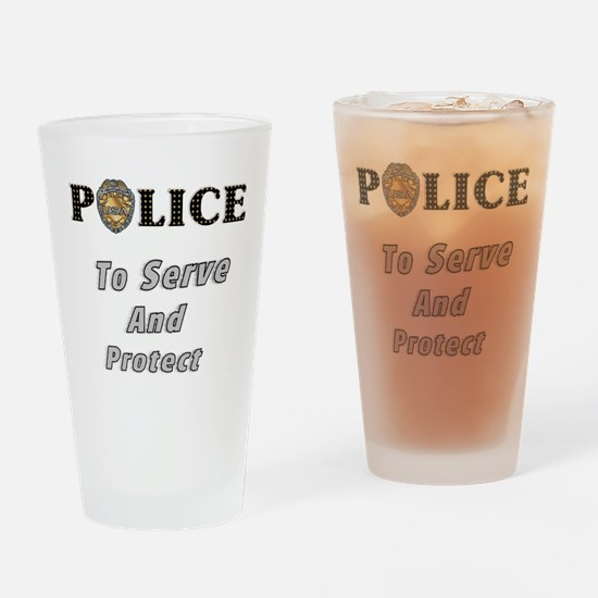 Police Service Pint Glass