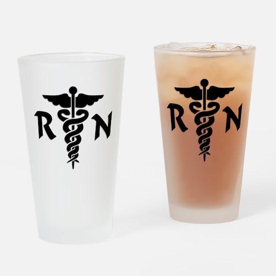 RN Medical Symbol Drinking Glass