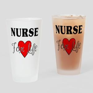 Nurse For Life Pint Glass