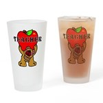 Teachers Apple Bear Drinking Glass