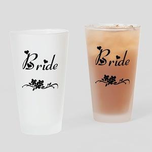 Classic Bride Drinking Glass